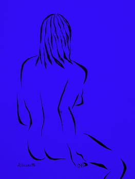 Ripose 4 In Blue    by Pamela Allegretto