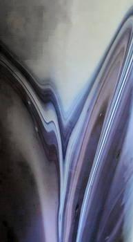 Sandra Pena de Ortiz - Rippling Color Waves Against Concentric Ellipses