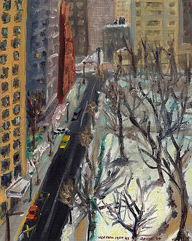 Rittenhouse Square in the Snow by Joseph Levine