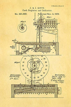 Ian Monk - Ritty Cash Register 2 Patent Art 1879