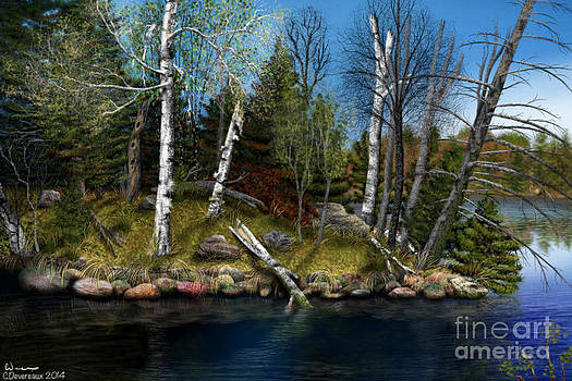 River Bank by Chuck Devereaux Art