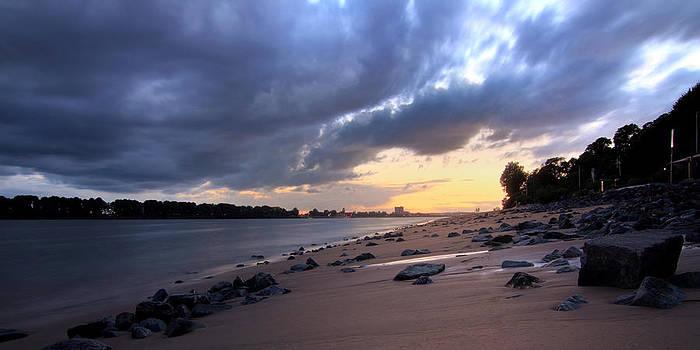 River Beach Sunset by Marc Huebner