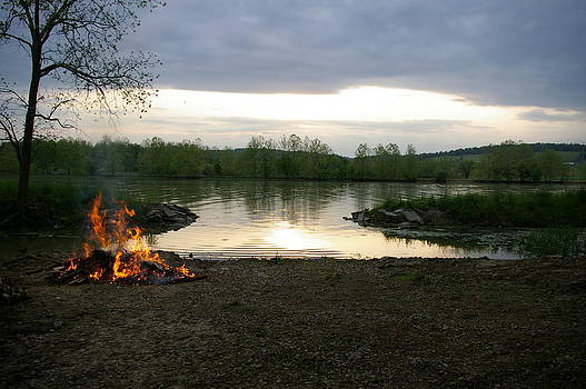 River Bonfire by Elizabeth King