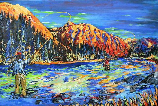 River Fisherman by Gregory Merlin Brown