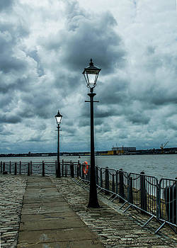 River Mersey Lampposts by Marie  Cardona
