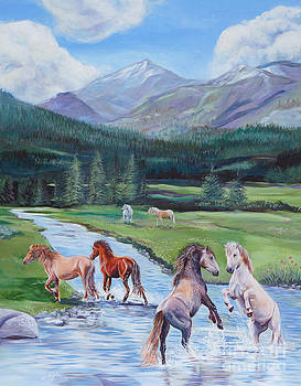Mountain Valley Horses by Gail Dolphin