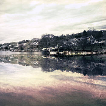 River Reflections Merrimack River by Ann Tracy