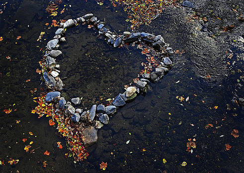 River Rock Heart by John Cardamone