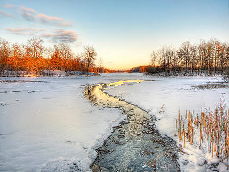 River Runs Frozen by Jenny Ellen Photography