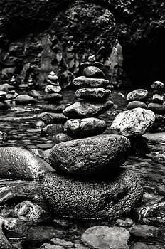 River Stack black and white by Jesse Wright