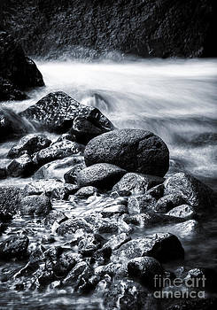 River stone in bw by Frederiko Ratu Kedang