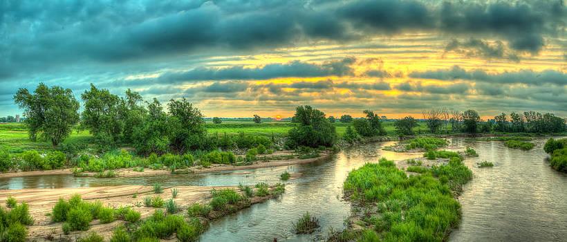 River sunrise by  Caleb McGinn
