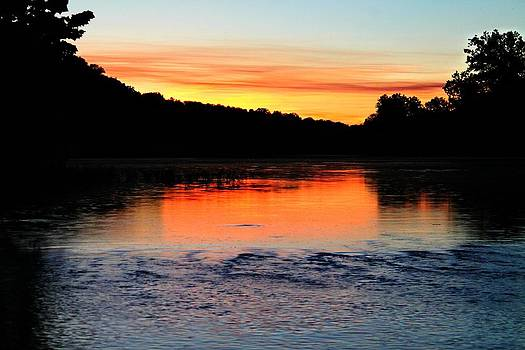 River Sunset by Candice Trimble