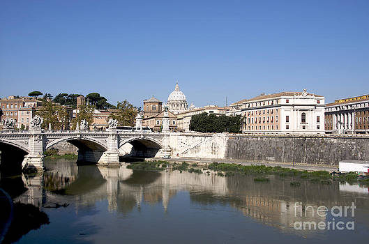 BERNARD JAUBERT - River Tiber with the Vatican. Rome