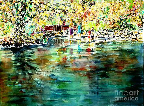 Riverside delight by Alfred Motzer