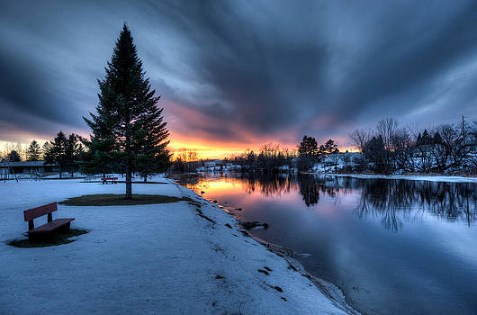 Riverside Sunset by Jeff Clark