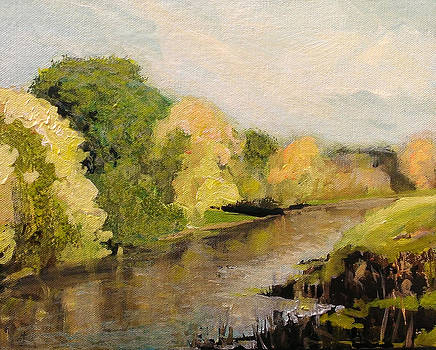 Riverside Trees by Paul Mitchell