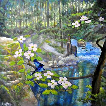 Riverside Wonders with Blue Jays by Eileen  Fong