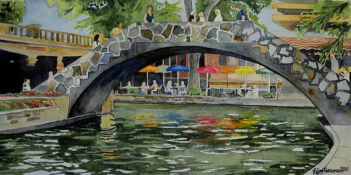 Riverwalk Bridge by Jeffrey S Perrine