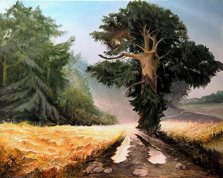 Road And Silence by Mikhail Savchenko