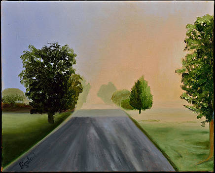 Road Reflection by Gloria Cigolini-DePietro