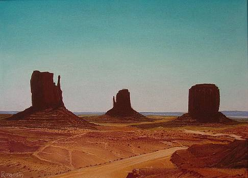 Road to Monument Valley by Harvey Rogosin