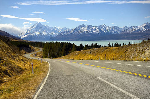 Road to Mount Cook by Ng Hock How