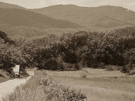 Road to Nowhere sepia by Robert J Andler