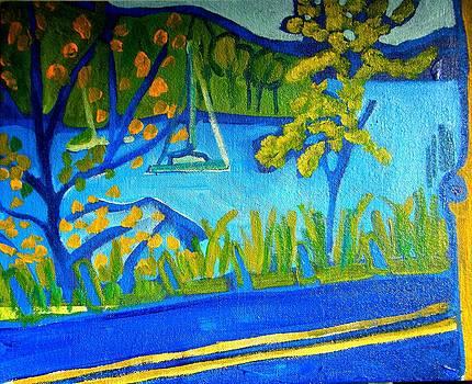 Road to the Ferry Charlotte Vt by Debra Bretton Robinson