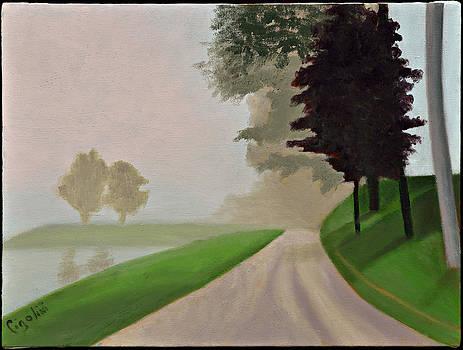 Road to the Pond by Gloria Cigolini-DePietro