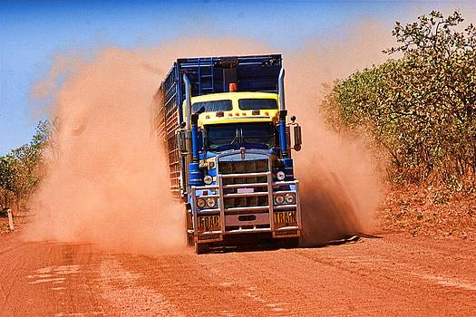 David Rich - Road train on Dirt Road