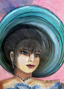 Roaring 20s Blue 2 by Suzanne Thomas
