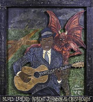 Robert Johnson at the Crossroads by Eric Cunningham