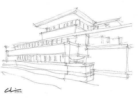 Robie House Sketch by Calvin Durham