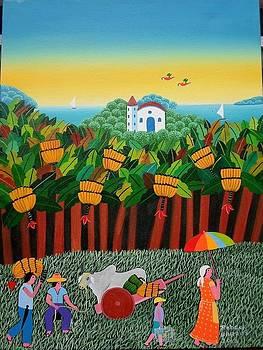 Robson Barros Tema Colheita De Banana Medida 40x30  by Naifjunior Naifjunior