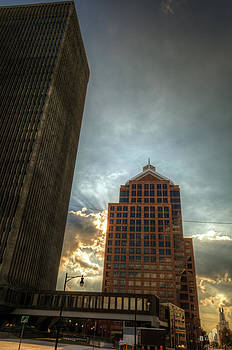 Rochester NY in HDR Skyline by Tim Buisman