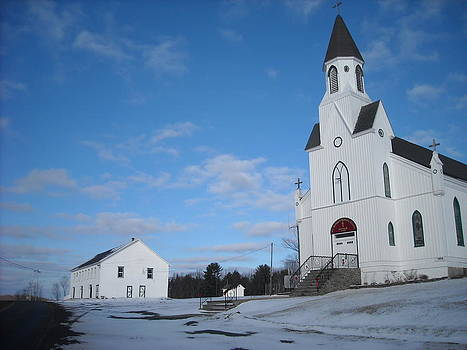 Rock Lake church by Daniel Tennant