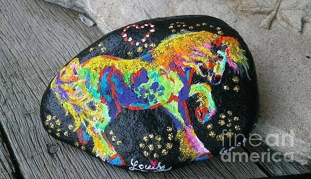 Rock 'N' Ponies - Curly Rocks  by Louise Green