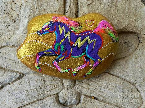 Rock 'N' Ponies - Gold Rush Pony  by Louise Green