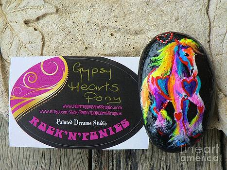 Rock 'N' Ponies - Gypsy Hearts Pony  by Louise Green