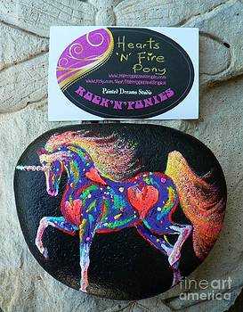 Rock 'N' Ponies - Hearts N Fire Pony by Louise Green