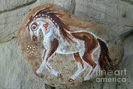 Rock 'N' Ponies - Medicine Hat Spirit Pony by Louise Green
