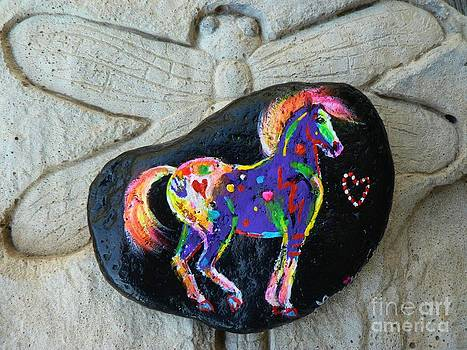 Rock 'N' Ponies - Native Spirit Pony by Louise Green