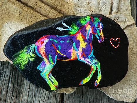 Rock 'N' Ponies - Pachie Pony  by Louise Green