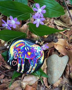 Rock 'N' Ponies - Peace Pony by Louise Green