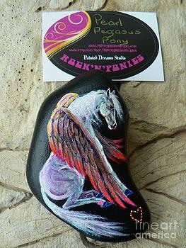 Rock 'N' Ponies - Pearl Pegasus Pony by Louise Green