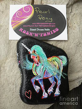 Rock 'N' Ponies - Pearl Pony  by Louise Green