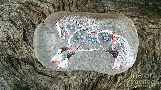 Rock 'N' Ponies - Shades Of Grey Pony by Louise Green