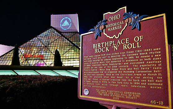 Rock n Roll and Historic Marker by John P Houlihan