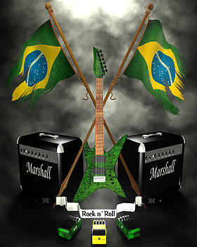 Rock N Roll crest - Brazil by Frederico Borges